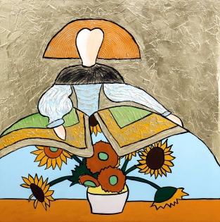Cuadro Menina Van Gogh (bci1055)