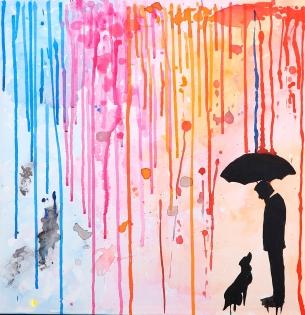 Cuadro lluvia de colores (bci1125)