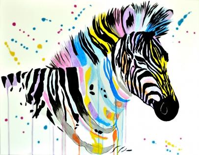 Cuadro Cebra colores (bci1183 )