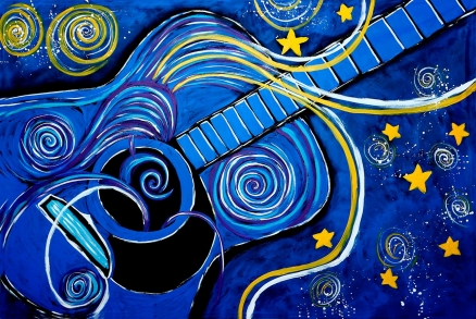 Cuadro guitarra azul (bci1184)