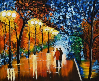 Cuadro pareja en un paseo (bci1201)