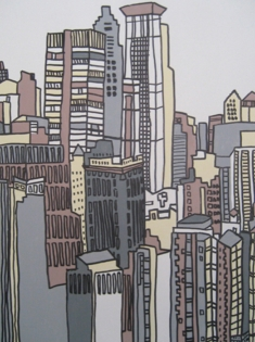 Cuadro ciudad moderna (bci130)