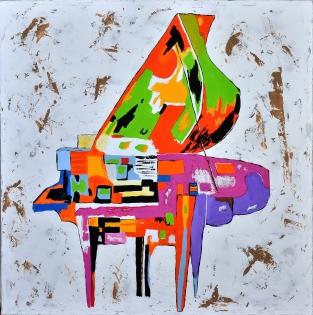 cuadro piano de colores (bci198)