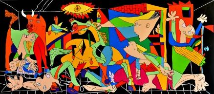 Cuadro Guernica version colores (bci200)