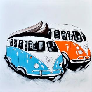 Cuadro furgonetas de colores (bci2012)