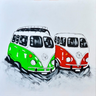 Cuadro furgonetas de colores (bci2013)