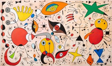 Cuadro abstracto siruetas (bci500)
