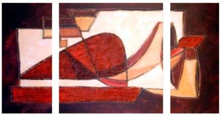 Cuadro abstracto triptico (bdga011)