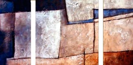 Cuadro triptico abstracto (bdga025)