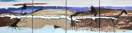 Conjunto cuatro cuadros abstractos (bdga113)