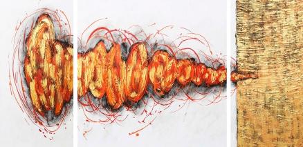 Cuadro abstracto triptico (bdga201)
