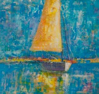 Cuadro velero con textura (bep4052)