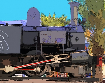 Cuadro maquina de tren pop (bept1061)