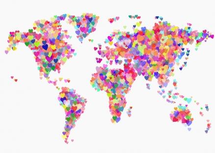 Cuadro mapa corazones (bfl296796196)