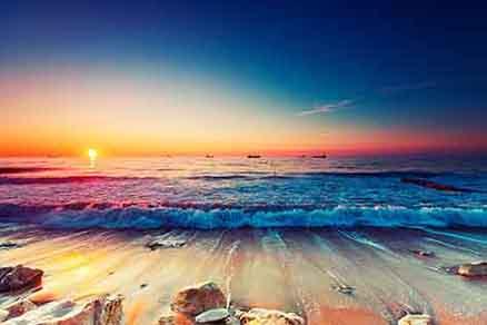 Cuadro atardecer en la playa (bfl62374288)