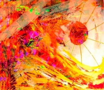 Cuadro abstracto sol (bfl78392602)