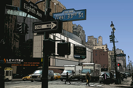 Cuadro New york Eighth Ave (bgca1440)