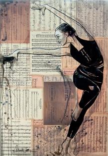 Cuadro figura collage (bjlp004)