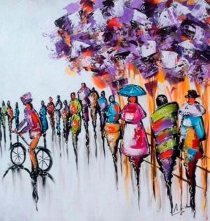 Cuadro gente en movimiento (bjpd9817)
