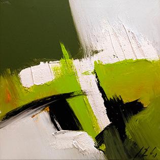 Cuadro abstracto mancha verde (bme170020)
