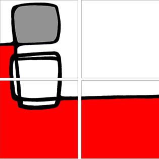 Conjunto cuatro cuadros abstractos (bme170100)