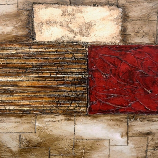 Cuadro abstracto rustico (bme190071)