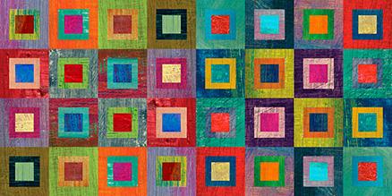 Cuadro abstracto cuadrados colores (bme210022)