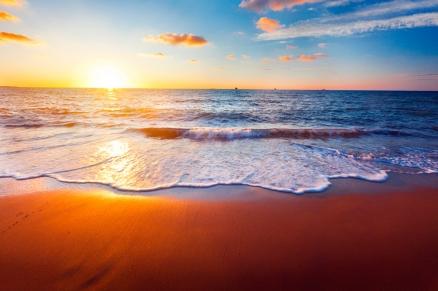 Cuadro atardecer en la playa (bme260007)
