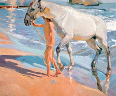 Cuadro Sorolla baño del caballo (bpmv1009)