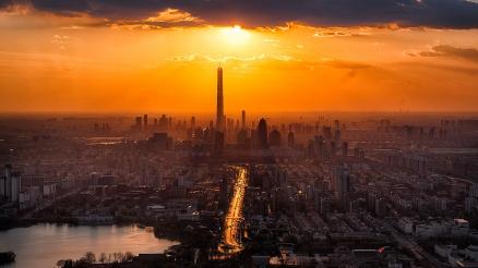 Cuadro amanecer en la ciudad (bpx0016)