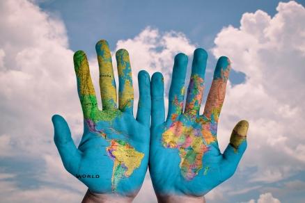 Cuadro el mundo en mis manos (bpx0031)