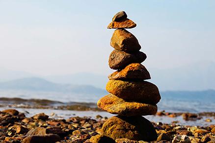 cuadro paisaje piedras (bpx0313)