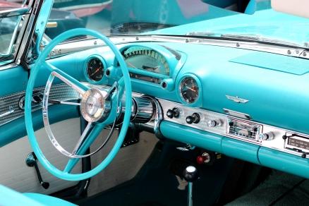 Cuadro coche turquesa (bpx0410)