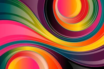 Cuadro abstracto psicodelico (bpx0604)
