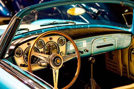 Cuadro coche clasico azul (bpx0401)