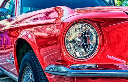 Cuadro coche clasico rojo (bpx0402)