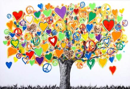 Cuadro arbol del amor  (bci1122)