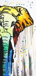 Cuadro elefante de colores (bci1233)