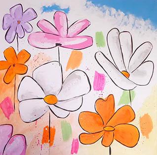 Cuadro flores juveniles (b262)