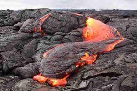 Cuadro monta�a con lava (bfl52934481)