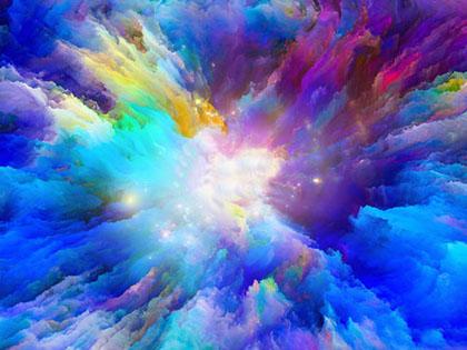 Cuadro explosion de azules (bfl179481685)