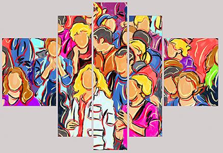 Cuadro multiforma gente (bacb2040)