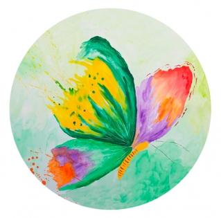 Cuadro mariposa verde redondo (bci1216-rd)