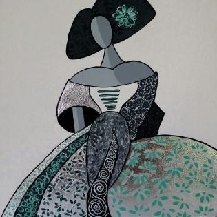 Cuadro Menina dama verde 6 (bci1006)
