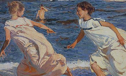 Cuadro Sorolla corriendo por la playa (bpmv1003)